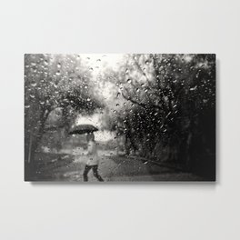 Past the Raindrops Metal Print