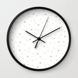 glaze and mixed decorative sprinkles Wall Clock
