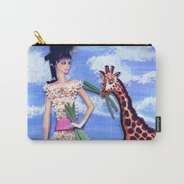 The African Safari Illustration By James Thomas Ryan Carry-All Pouch