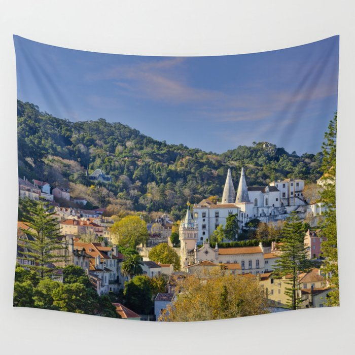 Sintra, evening light Wall Tapestry