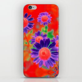 Summer Floral Red iPhone Skin