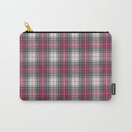 brooklyn red & white - holiday and everyday classic red white plaid check tartan Carry-All Pouch