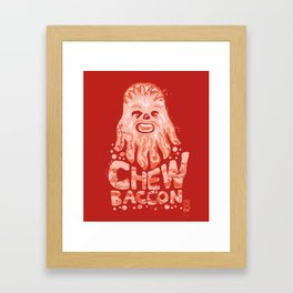 Chewbaccon Framed Art Print