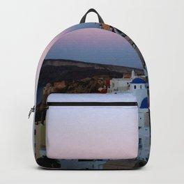 Dawn of Santorini Greece Backpack