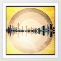 "san diego Art Prints featuring ""San Diego"" by Chief Collective"