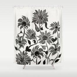 Sunflowers – Black Palette Shower Curtain