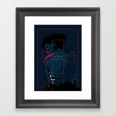 The girl with dragon tattoo - alternative movie poster Framed Art Print