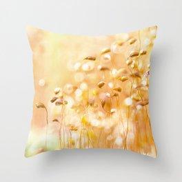 Sentinel moss flowers - Nature Fine Art photography Throw Pillow