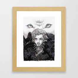 The crows and the wolf Framed Art Print