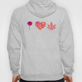 i Heart Pot Leaf Hoody