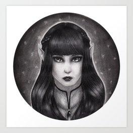 Fae Portrait  Art Print
