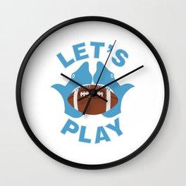 Let's play football Wall Clock