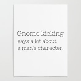 Gnome kicking - GG Collection Poster