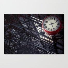 Red clock Canvas Print