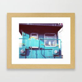 Locomotive in Turquoise Framed Art Print