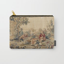 Aubusson  Antique French Tapestry Print Carry-All Pouch