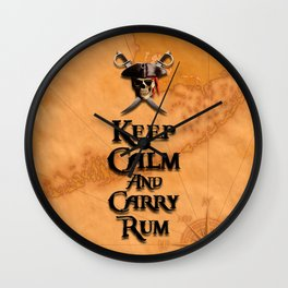 Keep Calm And Carry Rum Wall Clock