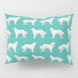 Great Pyrenees dog portrait pet gifts for dog person with unique dog breeds by pet friendly Pillow Sham