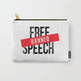 Free Speech Banned Carry-All Pouch