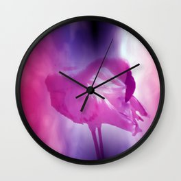 pink flamingo - square format - Wall Clock