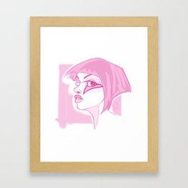 Bowie's Girl Framed Art Print