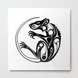 Tribal Rat Metal Print