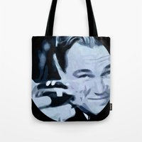 great gatsby Tote Bags featuring Great Gatsby by Instrum