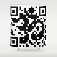 code Shower Curtains featuring Code Om by Tshirtbaba