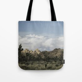 Joshua Tree in a blur Tote Bag