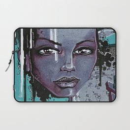 Street Girl Blue Laptop Sleeve