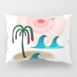 059 - Owly enjoying the positive vibes at the beach Pillow Sham