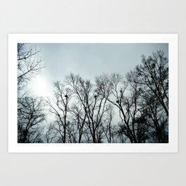 desolate sky Art Print