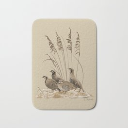 Chukar Partridges Bath Mat