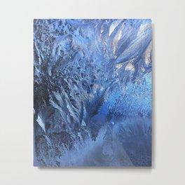 Mother Nature's Ice Design Metal Print