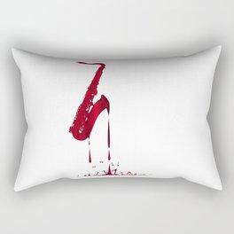 Red Hot Saxophone Rectangular Pillow