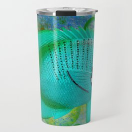 ANGEL FISH BLUE Travel Mug