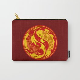 Red and Yellow Yin Yang Koi Fish Carry-All Pouch