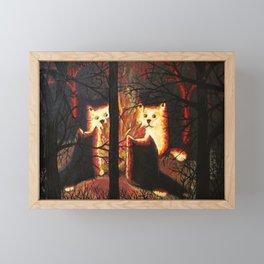 Cats shining through the trees Framed Mini Art Print