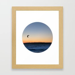 """TWO BIRDS WITH ONE STONE"" kitesurf . kite . surf Framed Art Print"