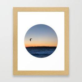 """TWO BIRDS WITH ONE STONE"" kitesurf . kite . surf Framed Art Print"