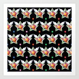 Star Yell Brooch Art Print