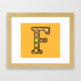 "The Letter ""F"" Framed Art Print"