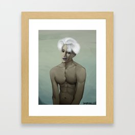 Exo k Kai jongin as a vampire. Framed Art Print