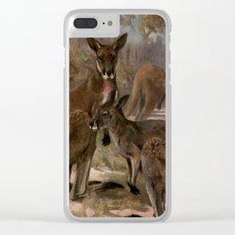 Vintage Kangaroo Painting (1909) Clear iPhone Case