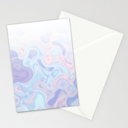 Liquid Pastel Marble Ombre 1. lilac, nude and aqua #pastelvibes #homedecor #buyart Stationery Cards