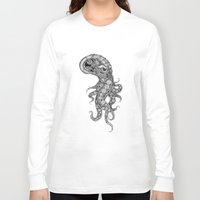 clockwork Long Sleeve T-shirts featuring clockwork octopus by vasodelirium