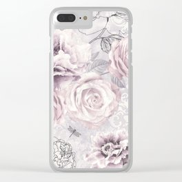 Vintage Vibes Clear iPhone Case