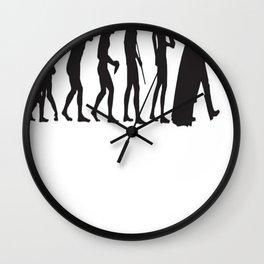 Human evolution Star wars Wall Clock