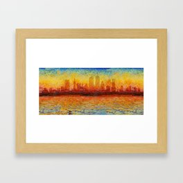 Boston Skyline 8 Framed Art Print