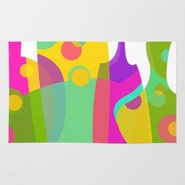 Colorful Funky Bottle Shapes I Rug